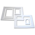 Inovart Picture-It White Pre-Cut Art/Presentation Mat Frame Assortment - 12 per pack