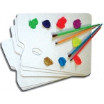"Inovart Artist Palette - Reuseable/Disposable - 9""x 12"" - 6 per pack"