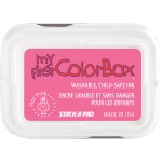 My First ColorBox® Washable Full Size Ink Pad Hot Pink: Red/Pink, Pad, Dye-Based, Full Size Rectangle, (model CS68047), price per each