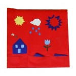 Beka Felt Panel: Fire Engine Red