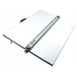 "Alvin® PXB Series Portable Parallel Straightedge Board 30"" x 42"": White/Ivory, 30"" x 42"", Melamine, Drawing Board"