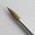 Kolinsky Sable Short Handle Round Brush # 8 (Made in Russia)