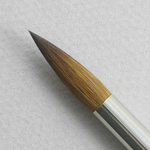 Kolinsky Sable Short Handle Round Brush # 12 (Made in Russia)