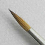 Kolinsky Sable Long Handle Round Brush # 14 (Made in Russia)