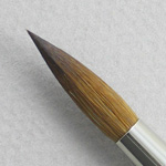 Kolinsky Sable Long Handle Round Brush # 20 (Made in Russia)