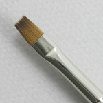 Kolinsky Sable Short Handle Bright Brush # 2 (Made in Russia)