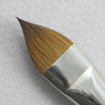 Kolinsky Sable Long Handle Filbert Brush # 12 (Made in Russia)