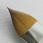 Kolinsky Sable Long Handle Filbert Brush # 16 (Made in Russia)