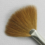 Kolinsky Sable Short Handle Fan Brush # 2 (Made in Russia)