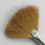 Kolinsky Sable Long Handle Fan Brush # 2 (Made in Russia)