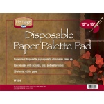 "Heritage Arts™ Disposable Paper Palette Pad 12"" x 16"": Pad, 50 Sheets, 12"" x 16"", 42 lb, (model PP1216), price per 50 Sheets pad"