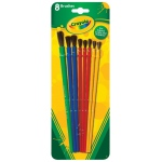 Crayola® Art and Craft 8-Piece Brush Set: Multimedia, (model 05-3516), price per set