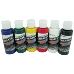 Createx™ Airbrush Primary Set; Color: Multi; Format: Bottle; Size: 2 oz; Type: Airbrush; (model 5801-00), price per set