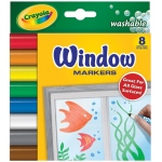 Crayola® Washable Window Marker 8-Color Set: Multi, Washable, (model 58-8165), price per set