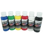 Createx™ Airbrush Opaque 6-Color Set; Color: Multi; Format: Bottle; Size: 2 oz; Type: Airbrush; (model 5803-00), price per set
