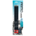 Primo® Euro Blend™ Charcoal Pencil Set; Color: Black/Gray, White/Ivory; Degree: Hard, Medium, Soft; Format: Pencil; (model 59PBP), price per pack