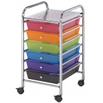"Blue Hills Studio™ Storage Cart 6-Drawer (Standard) Multi-Colored; Color: Multi; Drawer Size: 13 5/8""l x 9 5/8""w x 5/8""h; Material: Plastic; Quantity: 6-Drawer; (model SC62MC), price per each"