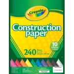 "Crayola® 9"" x 12"" Construction Paper Pack 240 Sheets; Color: Multi; Format: Sheet; Quantity: 240 Sheets; Size: 9"" x 12""; (model 99-3200), price per 240 Sheets"