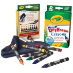 Crayola® Washable Dry Erase Crayon 8-Color Set: Dry Erase, (model 98-5200), price per set