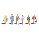 "Woodland Scenics® Standing People – 1/4"" Scale: 6-Pack, 1/4"", People, (model A2042), price per each"