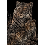 "Royal & Langnickel® Engraving Art Set Copper Foil Tiger & Cubs; Board Size: 8"" x 10""; Color: Metallic; (model COPF12), price per set"