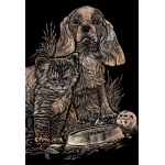 "Royal & Langnickel® Engraving Art Set Copper Foil Kitten & Puppy: 8"" x 10"", Metallic, (model COPF14), price per set"