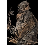 "Royal & Langnickel® Engraving Art Set Copper Foil Monkey & Baby; Board Size: 8"" x 10""; Color: Metallic; (model COPF15), price per set"