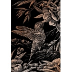 "Royal & Langnickel® Engraving Art Set Copper Foil Hummingbird; Board Size: 8"" x 10""; Color: Metallic; (model COPF17), price per set"