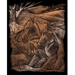 "Royal & Langnickel® Engraving Art Set Copper Foil Horse Trio: 8"" x 10"", Metallic, (model COPF23), price per set"