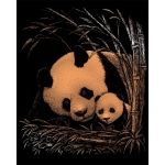 "Royal & Langnickel® Engraving Art Set Copper Foil Panda & Baby; Board Size: 8"" x 10""; Color: Metallic; (model COPF24), price per set"