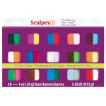 Sculpey® III Polymer Clay Sampler: Multi, Polymer, 30-Pack, 1 oz, (model S3301), price per set
