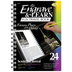 "Royal & Langnickel® Engrave & Learn Fun Travel Book Famous Places of the World; Board Size: 7"" x 8 5/8""; Color: Multi; (model EAB1), price per each"