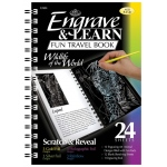 "Royal & Langnickel® Engrave & Learn Fun Travel Book Wildlife of the World; Board Size: 7"" x 8 5/8""; Color: Multi; (model EAB4), price per each"