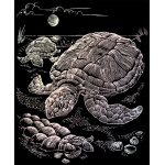 "Royal & Langnickel® Engraving Art Set Holographic Foil Sea Turtle; Board Size: 8"" x 10""; Color: Metallic; (model HOLO13), price per set"