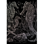 "Royal & Langnickel® Engraving Art Set Holographic Foil Sea Horses; Board Size: 8"" x 10""; Color: Metallic; (model HOLO16), price per set"