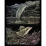"Royal & Langnickel® Engraving Art Set Holographic Foil Dolphin Cove: 8"" x 10"", Metallic, (model HOLO18), price per set"
