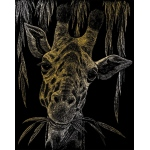 "Royal & Langnickel® Engraving Art Set Gold Foil Giraffe: 8"" x 10"", Metallic, (model GOLF24), price per set"