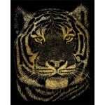 "Royal & Langnickel® Engraving Art Set Gold Foil Bengal Tiger; Board Size: 8"" x 10""; Color: Metallic; (model GOLF23), price per set"
