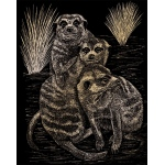 "Royal & Langnickel® Engraving Art Set Gold Foil Meer Cats; Board Size: 8"" x 10""; Color: Metallic; (model GOLF22), price per set"