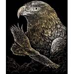 "Royal & Langnickel® Engraving Art Set Gold Foil Eagles; Board Size: 8"" x 10""; Color: Metallic; (model GOLF19), price per set"