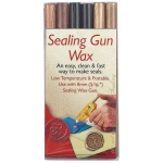 "Manuscript Sealing Gun Wax Black Gold Bronze: Black/Gray, Metallic, 5/16"", Wax Stick, (model MSH7616BGB), price per pack"