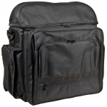 "Heritage Arts™ Traveler Artist Backpack Black; Color: Black/Gray; Material: Canvas; Size: 6""d x 12""w x 15""h; (model PACK-C), price per each"
