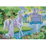 """Royal & Langnickel® Painting by Numbers™ 11 1/4 x 15 3/8 Junior Large Set Fairy Castle: 11 1/4"""" x 15 3/8"""", (model PJL20), price per set"""