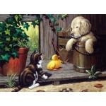 "Royal & Langnickel® Painting by Numbers™ 11 1/4 x 15 3/8 Junior Large Set Three Buddies: 11 1/4"" x 15 3/8"", (model PJL25), price per set"