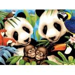 "Royal & Langnickel® Painting by Numbers™ 11 1/4 x 15 3/8 Junior Large Set Endangered Animals: 11 1/4"" x 15 3/8"", (model PJL8), price per set"