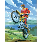 "Royal & Langnickel® Painting by Numbers™ 8 3/4 x 11 3/8 Junior Small Set Motocross; Board Size: 8 3/4"" x 11 3/8""; (model PJS11), price per set"