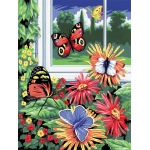 """Royal & Langnickel® Painting by Numbers™ 8 3/4 x 11 3/8 Junior Small Set Butterflies; Board Size: 8 3/4"""" x 11 3/8""""; (model PJS17), price per set"""