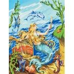 "Royal & Langnickel® Painting by Numbers™ 8 3/4 x 11 3/8 Junior Small Set Mermaid; Board Size: 8 3/4"" x 11 3/8""; (model PJS19), price per set"
