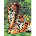 "Royal & Langnickel® Painting by Numbers™ 8 3/4 x 11 3/8 Junior Small Set Tigers: 8 3/4"" x 11 3/8"", (model PJS27), price per set"