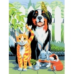 """Royal & Langnickel® Painting by Numbers™ 8 3/4 x 11 3/8 Junior Small Set Family Pets: 8 3/4"""" x 11 3/8"""", (model PJS29), price per set"""
